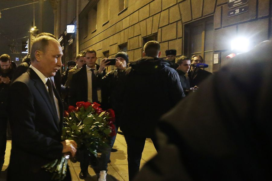 Vladimir Poutine à Saint-Pétersbourg, le 3 avril 2017.