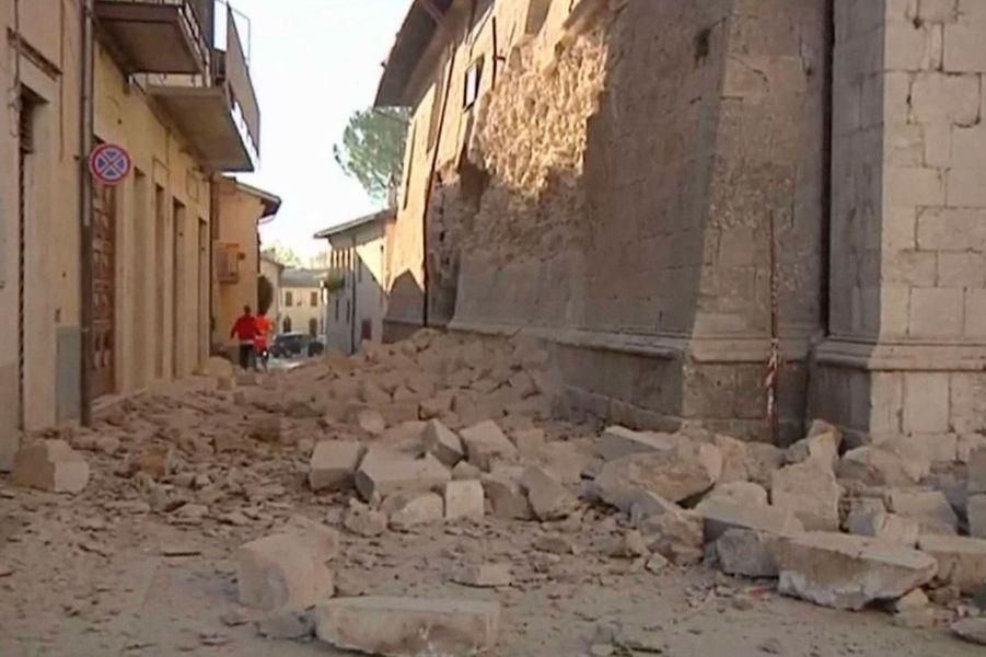 Le village de Norcia en Italie a été victime d'un tremblement de terre, cette nuit