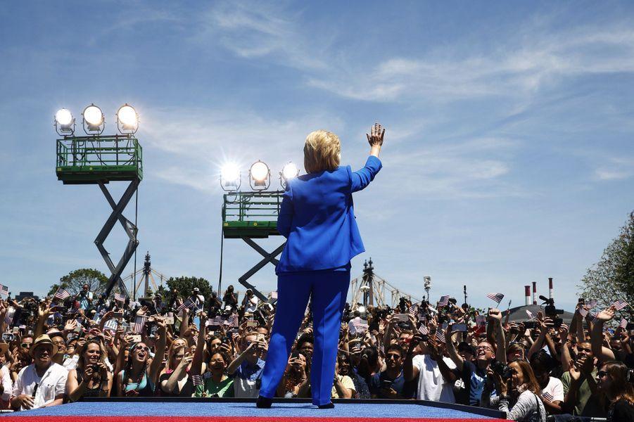 Premier discours officiel de campagne d'Hillary Clinton à New York, le 13 juin 2015.