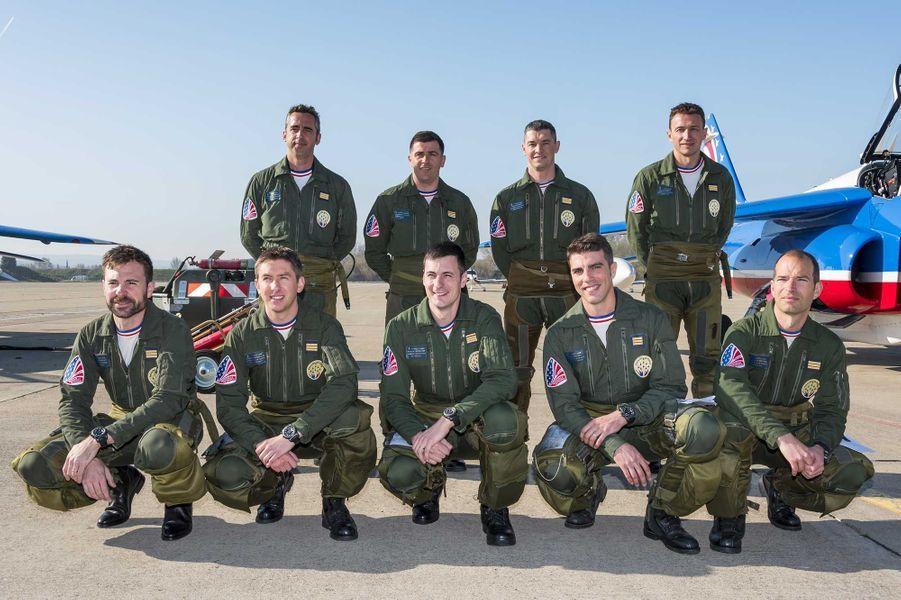 Les pilotes de la Patrouille de France.