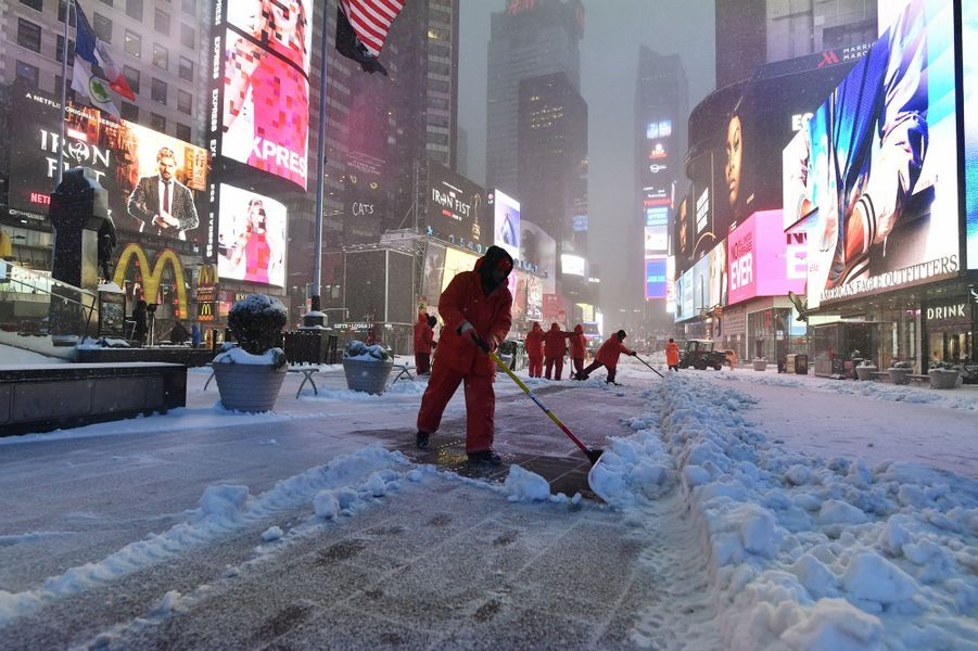 ​Le blizzard Stella sévit à New York.