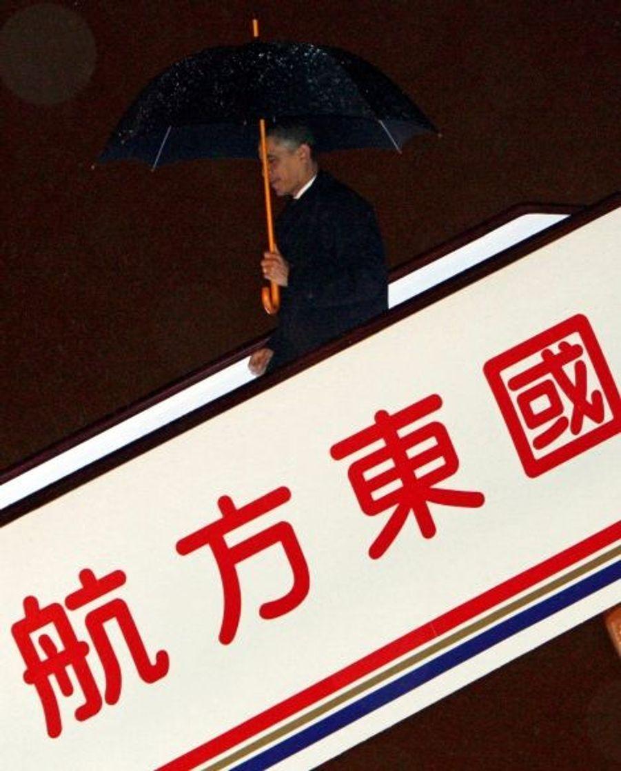 Barack Obama s'est ensuite envolé dimanche soir pour Shanghai, le cœur économique de la Chine.