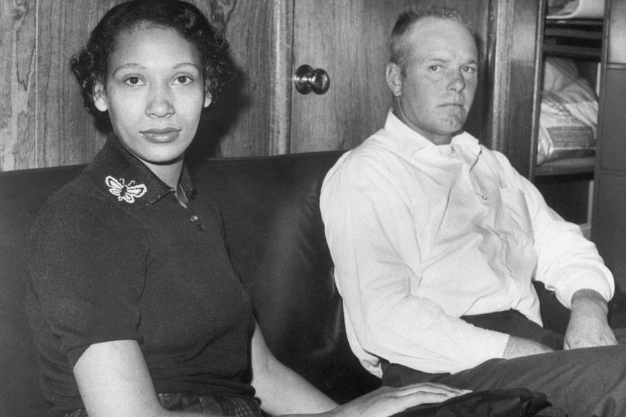 Mildred et Richard Loving, en janvier 1965.