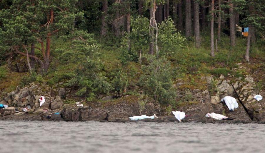 Le sol de la petite île de 500 mètres de long est jonchée de cadavres. Au moins 85 personnes sont tombées sous les balles du tueur.
