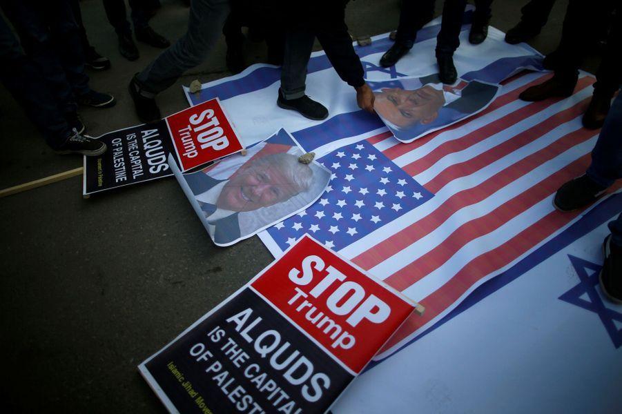 Manifestation à Gaza City, le 7 décembre 2017.