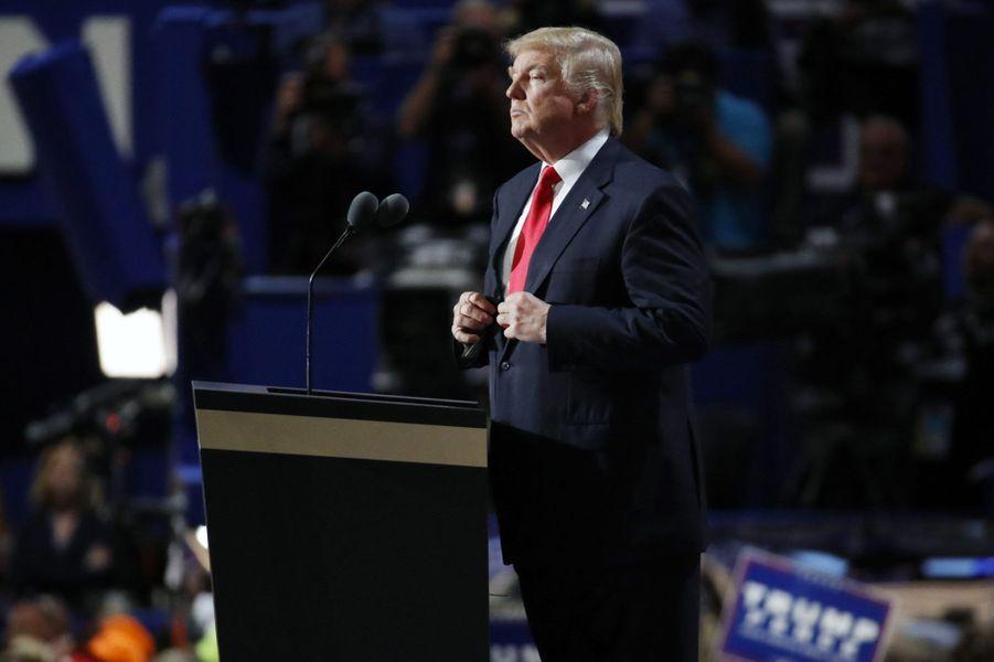 Donald Trump pendant son discours