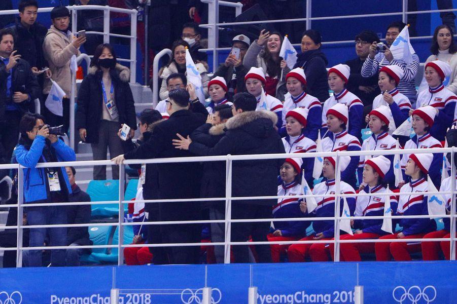 Le sosie de Kim Jong-un lors des Jeux Olympiques de Pyeongchang, le 14 février 2018.