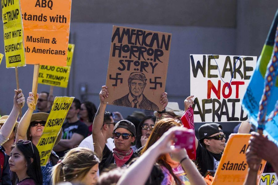 Manifestation anti-Trump au Nouveau-Mexique