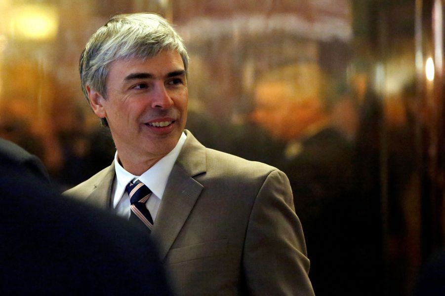 Larry Page (Google) à la Trump Tower, le 14 décembre 2016.