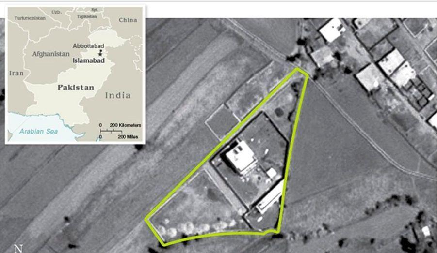 L'imposant complexe qui abritait Oussama ben Laden a été photographié par le ministère de la Défense américain, qui a communiqué cette image à la presse.