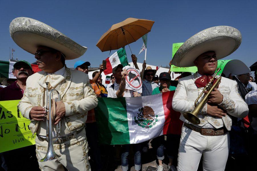 Manifestation anti-Donald Trump à Mexico, le 12 février 2017.