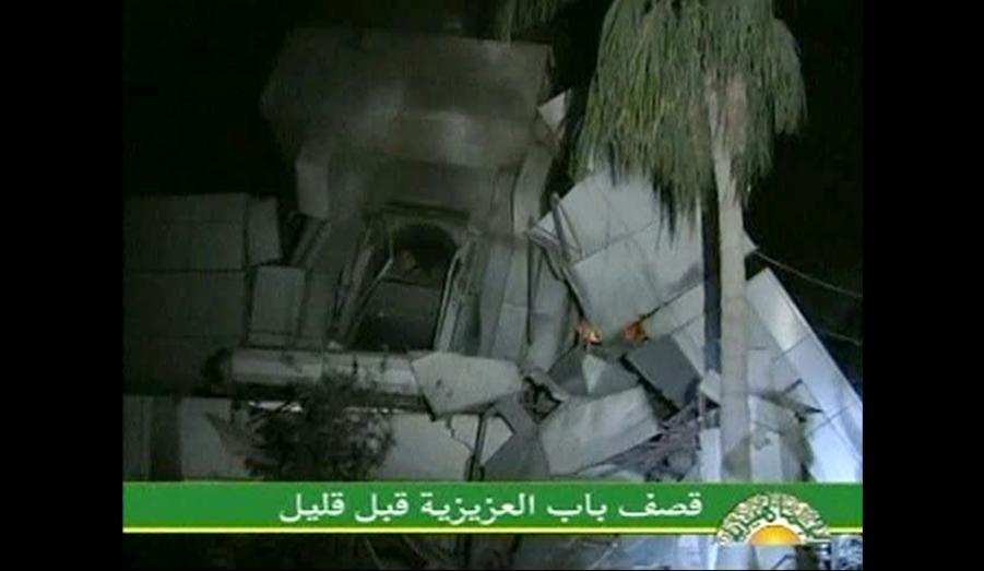 La frappe, dite chirurgicale, a touché la résidence du colonel située dans le secteur de Bab-Al-Aziziya, à Tripoli. Quarante-huit heures avant ces frappes, les Etats-Unis et l'Otan annonçaient qu'ils allaient utiliser les drones de combat en Libye. Et ce pour faciliter le repérage des cibles.