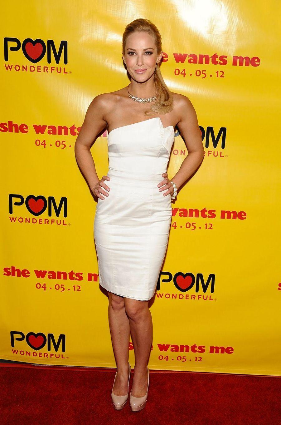 Louise Linton à la première de «She Wants Me» à Los Angeles, le 5 avril 2012.