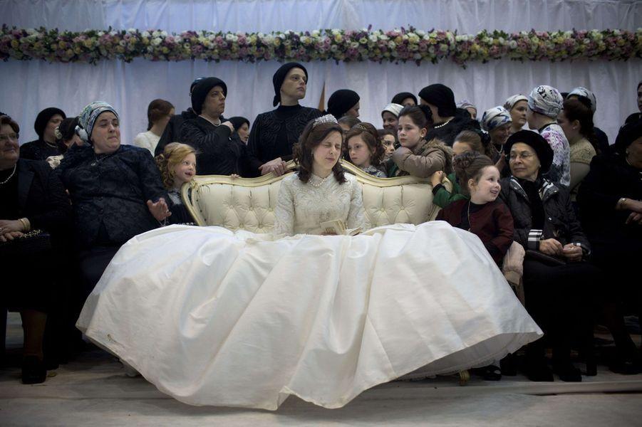 Mariage de haut rang dans la communauté hassidique à Netanya, en Israël