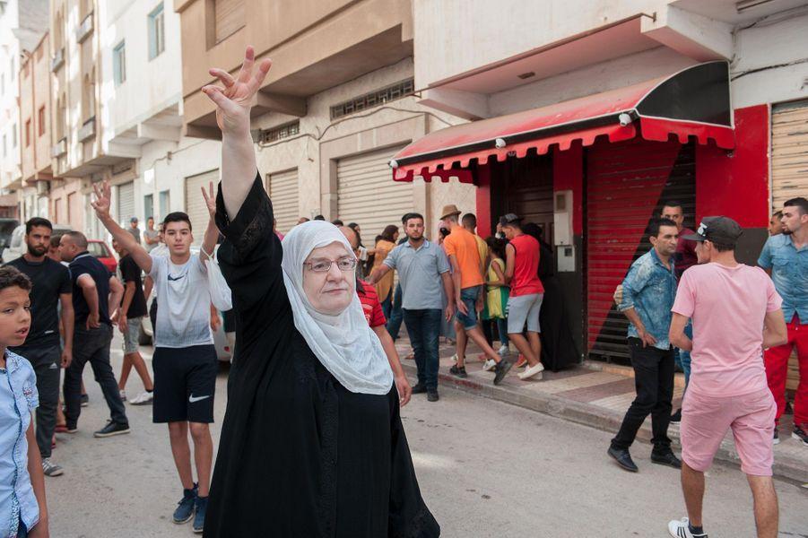 Illustration des heurts entre manifestants et forces de l'ordre au Maroc, à Al-Hoceïma.