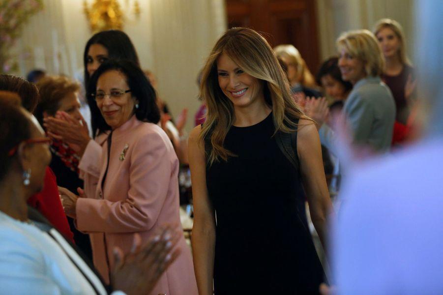 Melania Trump à la Maison Blanche, le 8 mars 2017.
