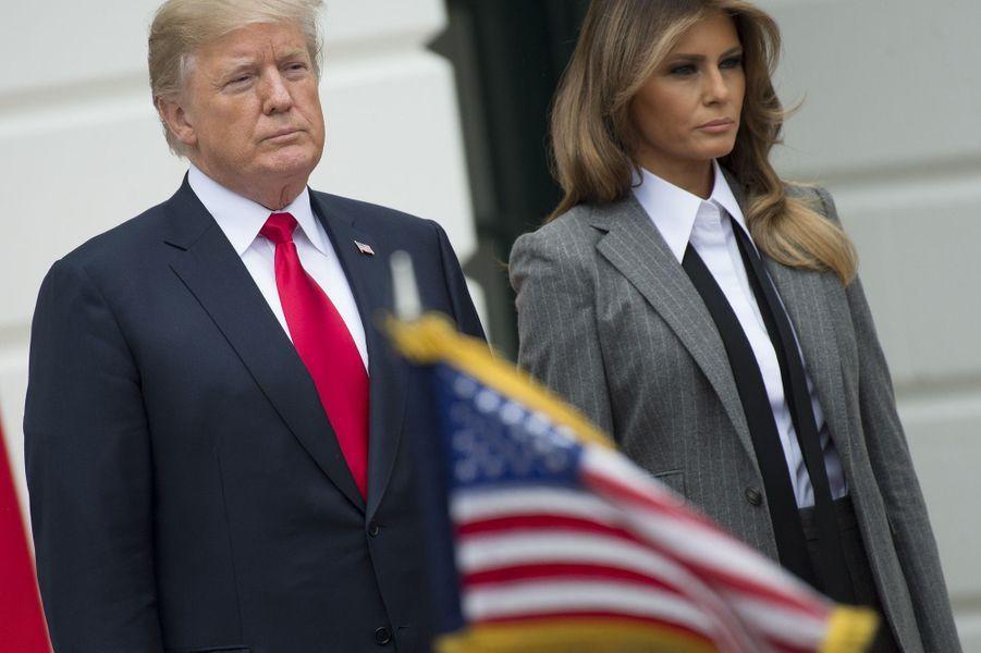 Melania Trump a accueilli Justin Trudeau et Sophie Grégoire à la Maison Blanche, le 11 octobre 2017.