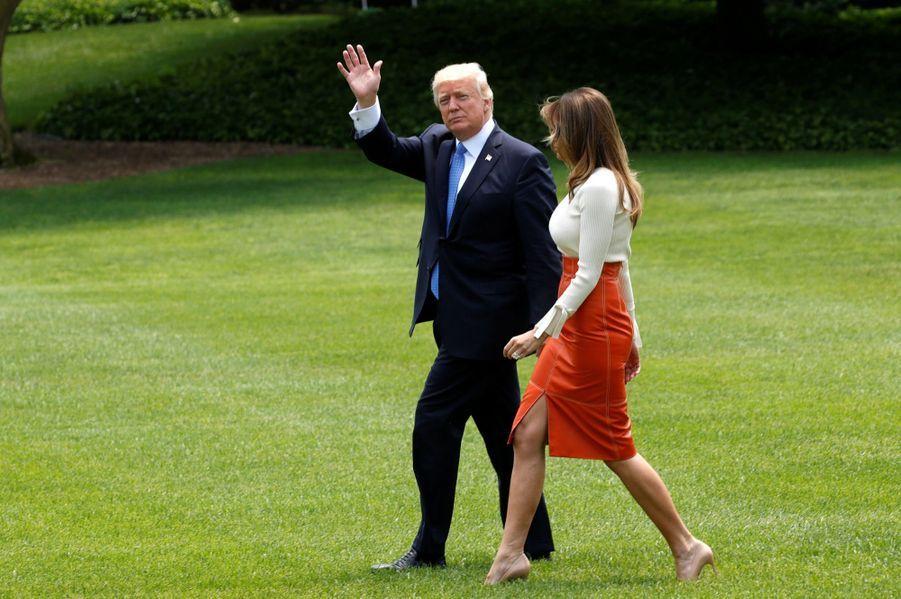 Melania Trump quitte la Maison Blanche, direction l'Arabie Saoudite