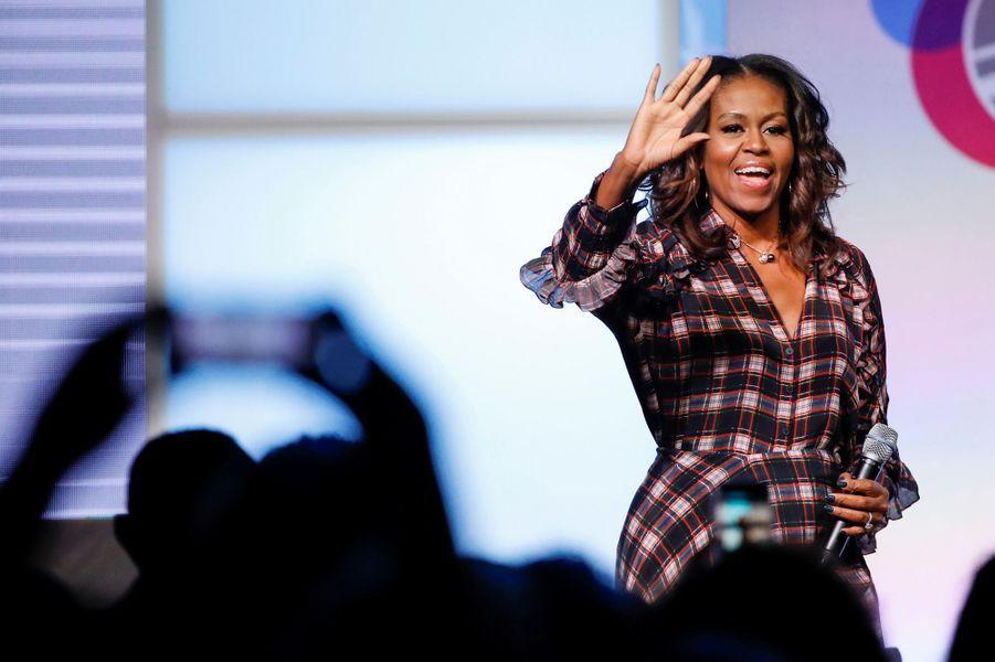 Michelle Obama au sommet de l'Obama Foundation à Chicago, le 1er novembre 2017.