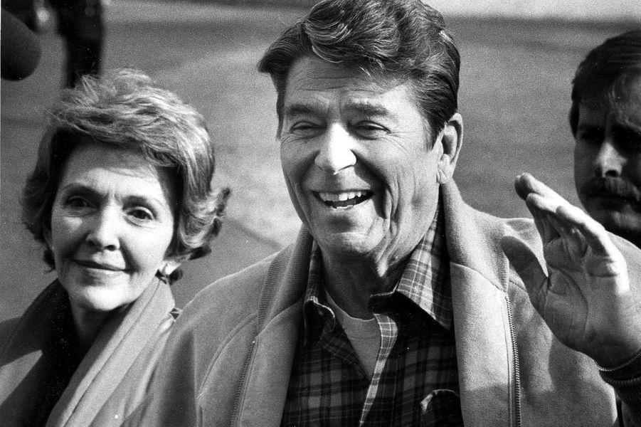 Le couple présidentiel le 15 février 1982