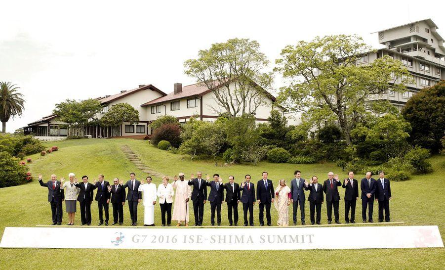Photo de famille au G7 à Ise-Shima