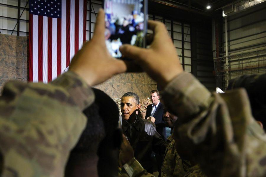 Obama rend visite à ses troupes en Afghanistan
