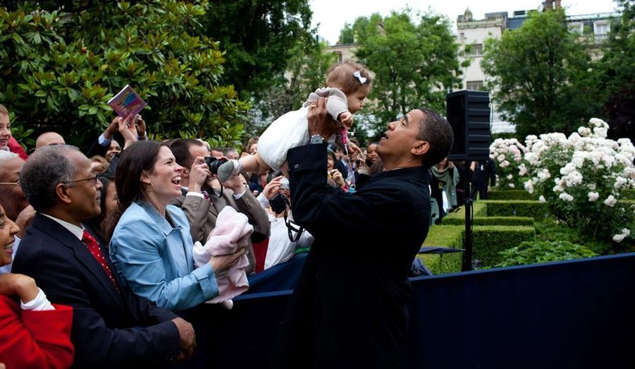 Dans les bras d'Obama