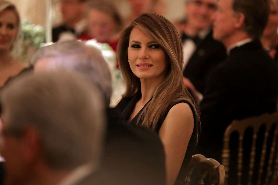 Melania Trump à la Maison Blanche, le 26 février 2017.