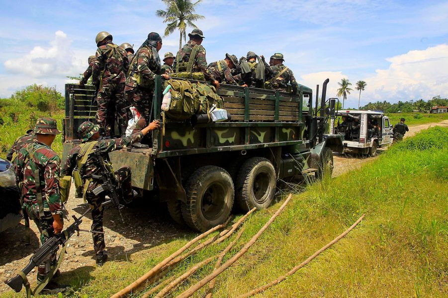 Des islamistes ont occupé une école primaire et pris des otages mercredi dans le sud desPhilippines, le 21 juin 2017.