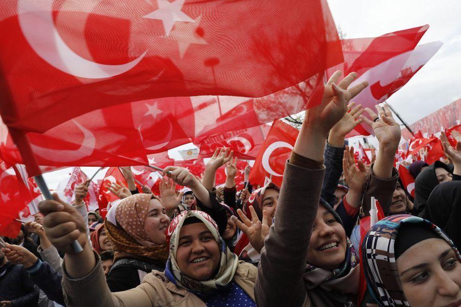 Au meeting de Recep Tayyip Erdogan àKonya, le 14 avril 2017.