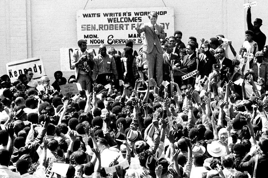 Robert Kennedy à Los Angeles, en Californie, le 25 mars 1968.