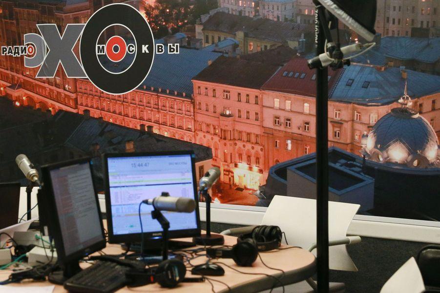 La journaliste russeTatiana Felguenhauer a été agressée dans sa rédaction de la radio l'Echo de Moscou, le 23 octobre 2017.