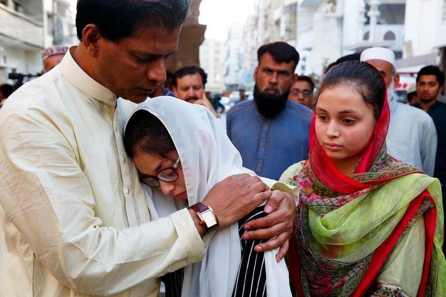 Sabika Sheikh, 17 ans et tuée dans la fusillade de Santa Fe, a été inhumée au Pakistan, le 23 mai 2018.