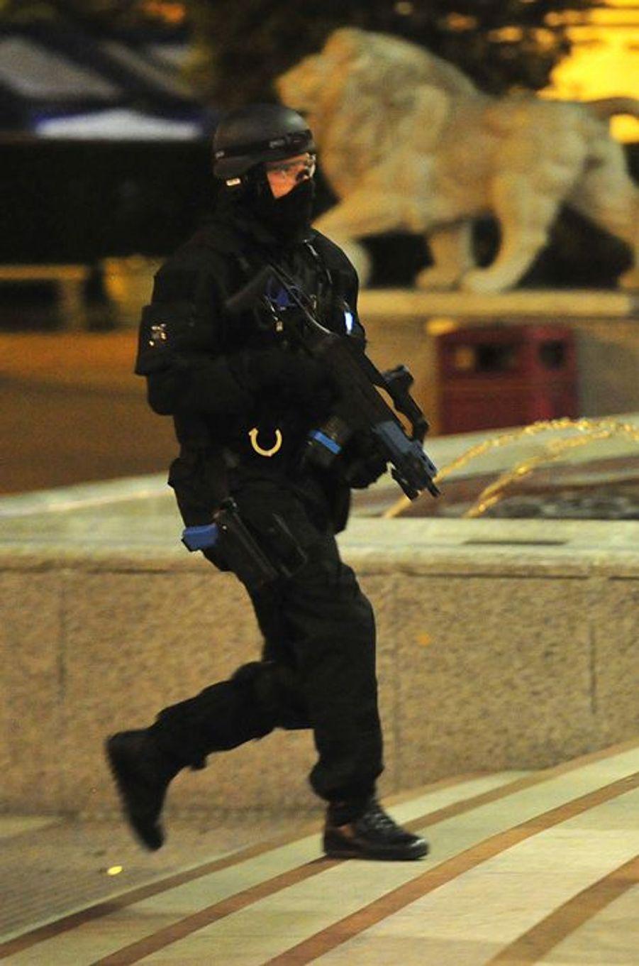 A Manchester, la police a organisé une simulation d'attaque terroriste, le 10 mai 2016.