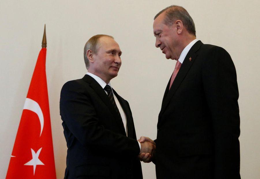 Vladimir Poutine et Recep Tayyip Erdogan, sans rancune