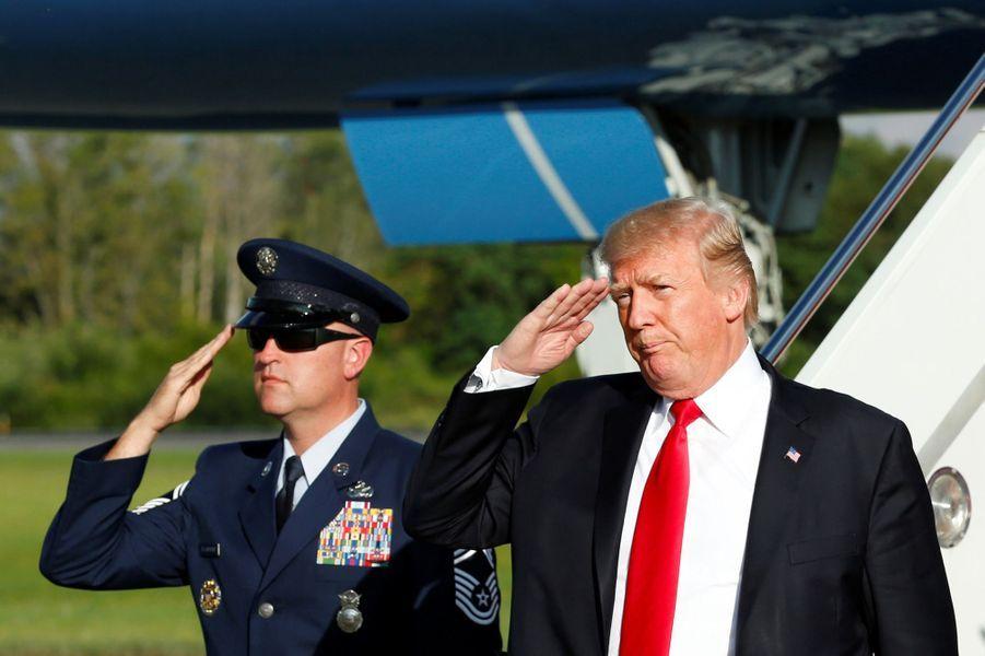 Donald Trump descend d'Air Force One, le 15 septembre 2017.