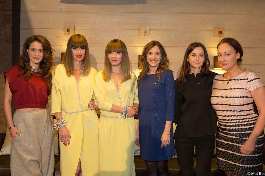 """Les lauréates de la 22e édition des """"Femmes en Or"""" à Avoriaz le 13 décembre 2014"""