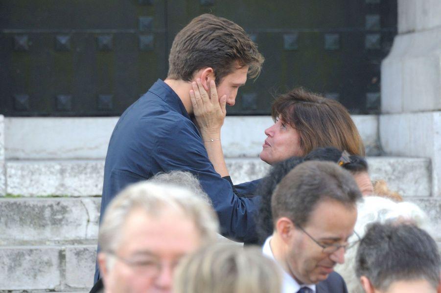 Patricia Elig et Romain, le plus grand des fils de Thierry Redler