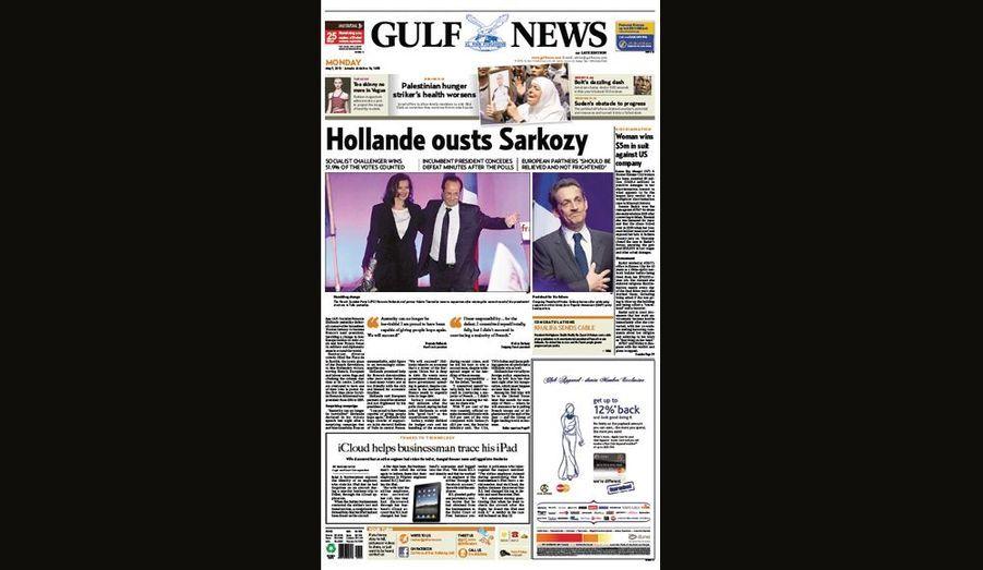 Hollande évince Sarkozy pour Gulf News (Dubai)