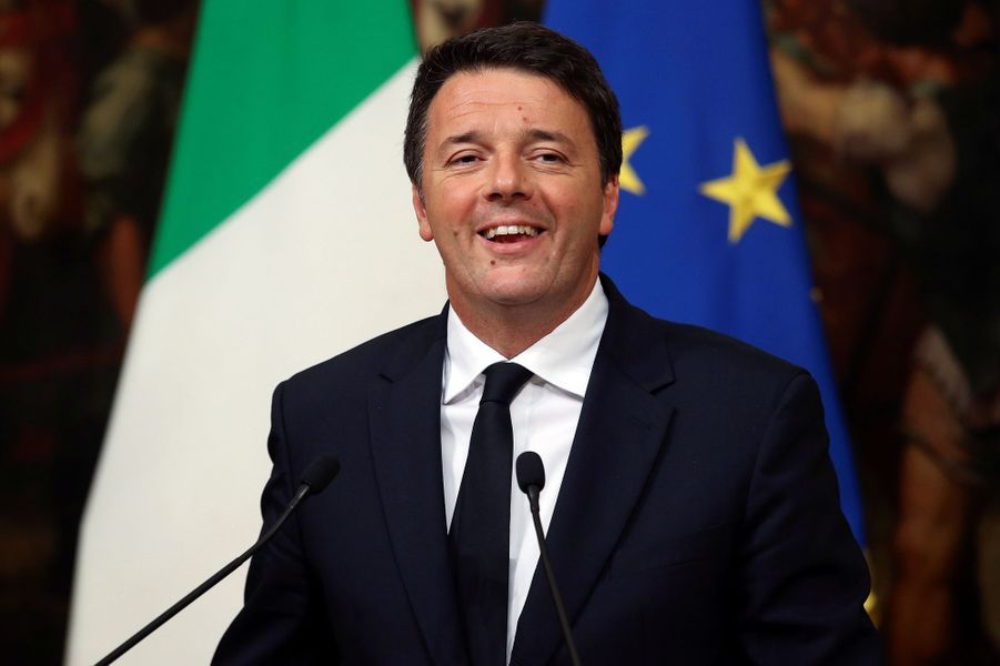 Italie : Matteo Renzi a dirigé le gouvernement à partir de 2014, à 39 ans (jusqu'en 2016).