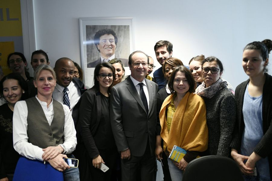 François Hollande à Aubervilliers, le 14 février 2017.