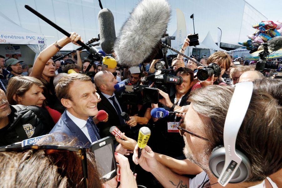 Emmanuel Macron à la foire de Châlons-en-Champagne, le 1er septembre 2016.