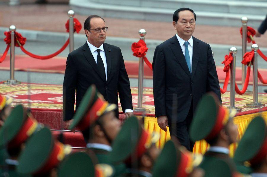 François Hollande se trouve à Hanoï, au Vietnam, ce mardi 6 septembre.
