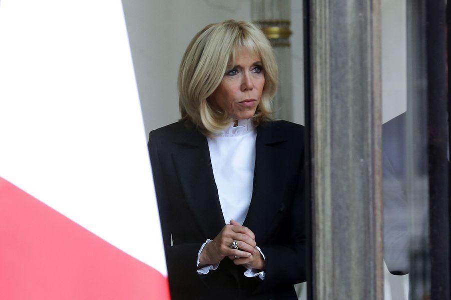 Brigitte Macron s'apprête à accueillirNadia Aoun lundi à l'Elysée.