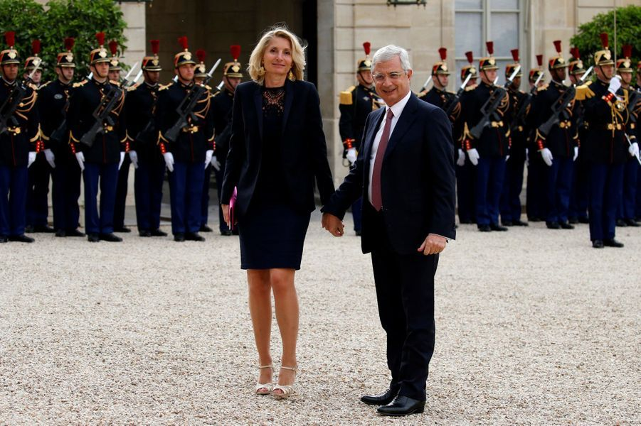 Claude Bartolone et sa femme Véronique à l'Elysée pour le dîner d'Etat donné en l'honneur du président sud-africain Jacob Zuma, le 11 juillet...
