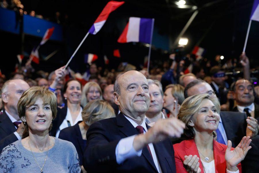 Alain Juppe en compagnie de sa femme Isabelle et de Valérie Pécresse.
