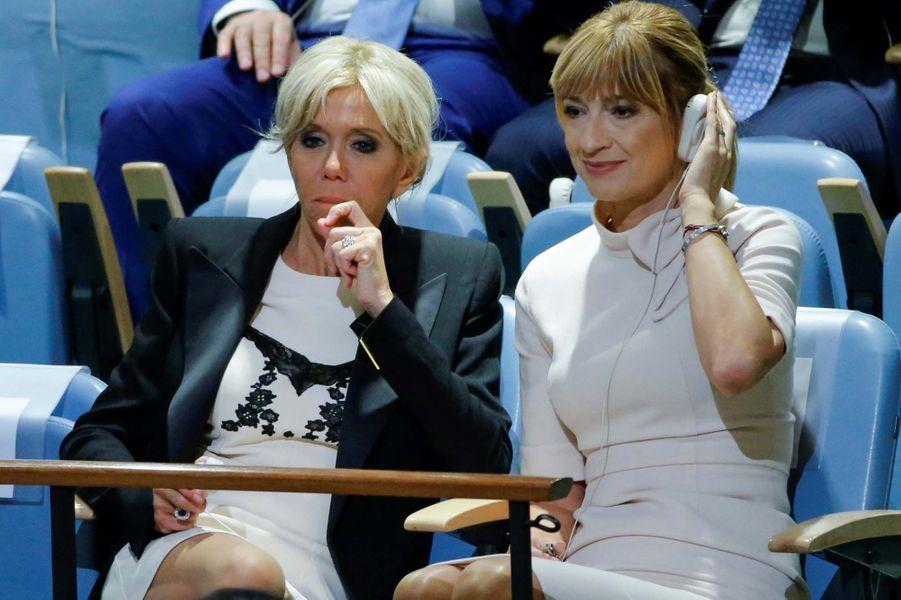 Brigitte Macron à l'ONU pour assister au discours de son mari.