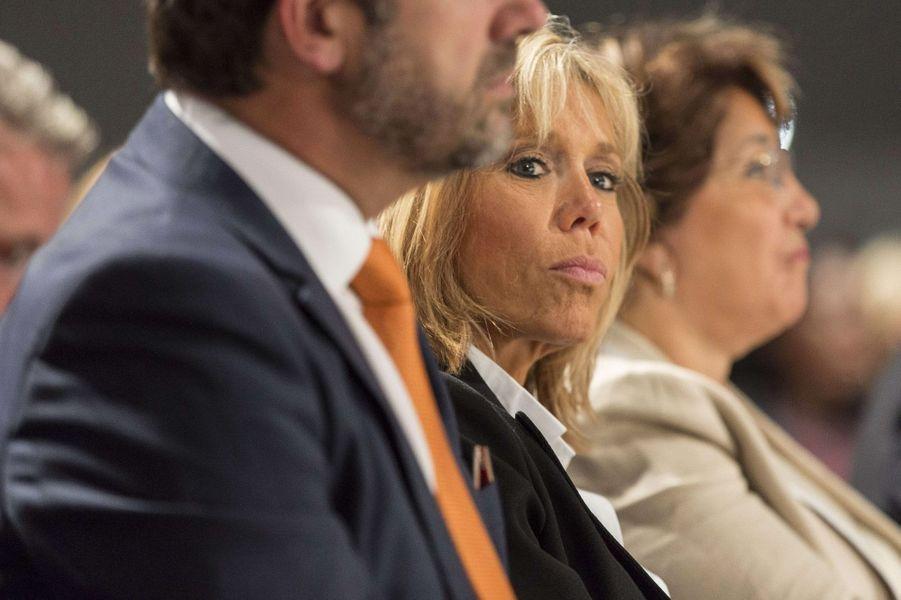 Brigitte Macron au meeting du 4 octobre à Strasbourg