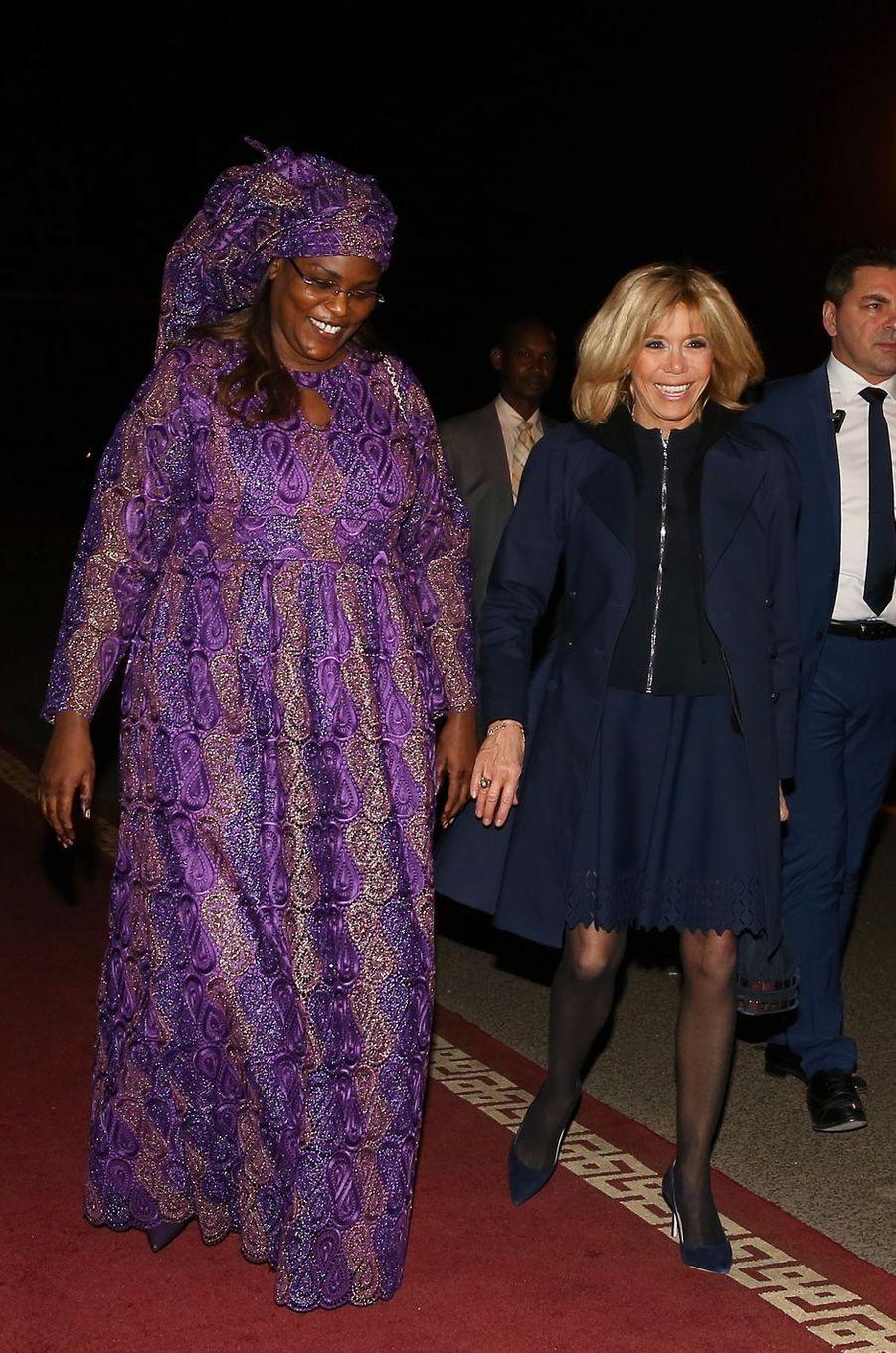 Brigitte Macron et la Première dame sénégalaiseMarème Faye Sall.