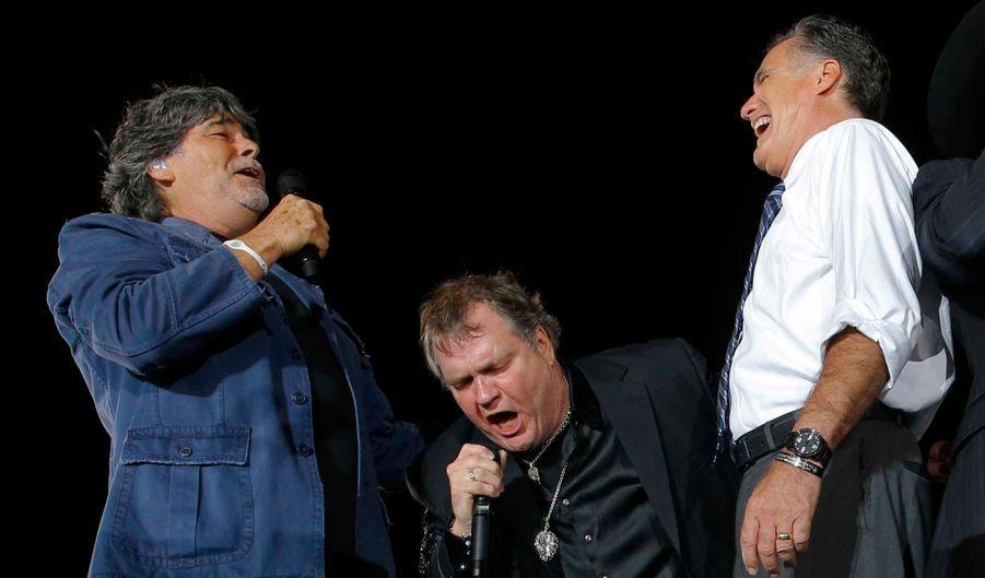 """La star du rock des années 1970 a fait une apparition surprise avant un meeting de Mitt Romney le 26 octobre à Defiance, dans l'Ohio. """"Jamais je n'ai appelé à voter pour un candidat jusqu'à aujourd'hui"""", a déclaré le chanteur américain devant 12 000 personnes. """"Mais je pense que 2012 est l'élection la plus importante de l'histoire des Etats-Unis. Car l'orage plane au-dessus des Etats-Unis. Il y a du tonnerre en Europe. De gros orages de grêle, énormes, au Moyen-Orient... Et je veux que vous sachiez qu'il n'y a qu'un seul homme capable de se tenir haut et droit, face à l'orage, et ramener ce pays à la place qui est la sienne... Le gouverneur Mitt Roooomney!"""", a-t-il ajouté avant d'interpréter un morceau avec Randy Owen"""